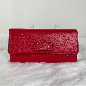 KATE SPADE RED WELLESLEY JEAN WALLET
